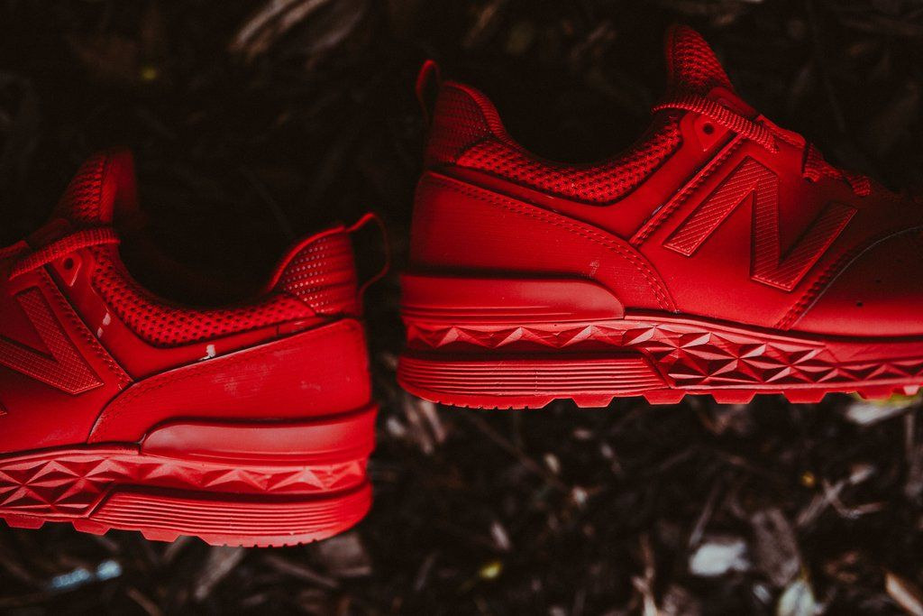 san francisco 5f868 fb7cc The New Balance 574 Sport just released in a new Triple Red ...
