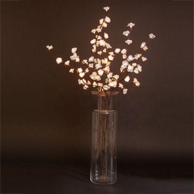 White Flower Lights Like For Real Major Center Piece Idea - Flower lights for bedroom