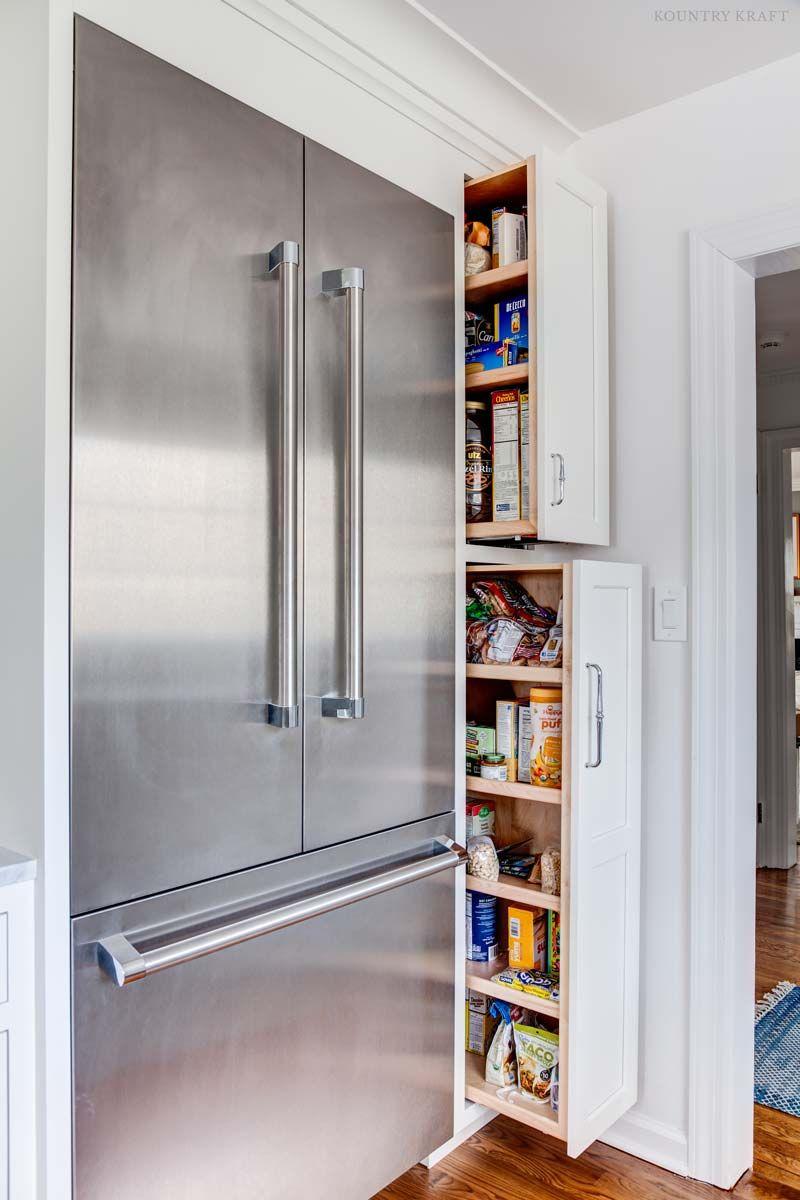 Decorator White Cabinets In Upper Montclair New Jersey Fridge French Door Stainless Steel Fridge Farmhouse Kitchen Design
