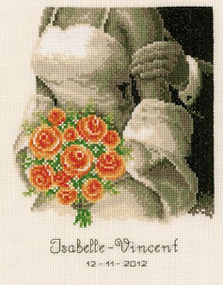 The Bouquet Cross Stitch Kit by Vervaco