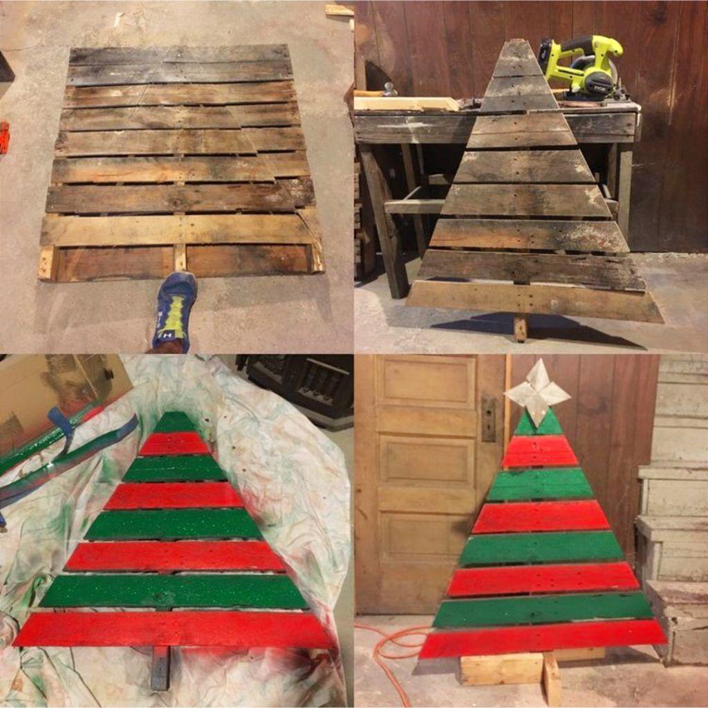 Diy Pallet Christmas Tree Ideas We Tried It Clever Diy Ideas Pallet Christmas Tree Wooden Christmas Trees Pallet Christmas