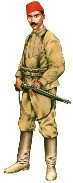 Szeregowy piechoty tureckiej 1915