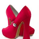 Zapatos de novia cereza,de Adriana Capasso. ciudadrosa@gmail.com