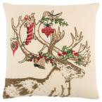 étonnant  Mot-Clé Rizzy Home Beige and Red Jute/Cotton 18 in. X 18 in. Decorative Filled Throw Pillow PILT06127BERE1818   The Home Depot
