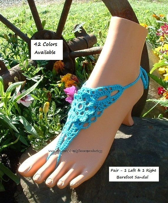 Blue Ocean Barefoot Sandals Beach Wedding Foot Jewelry Slave