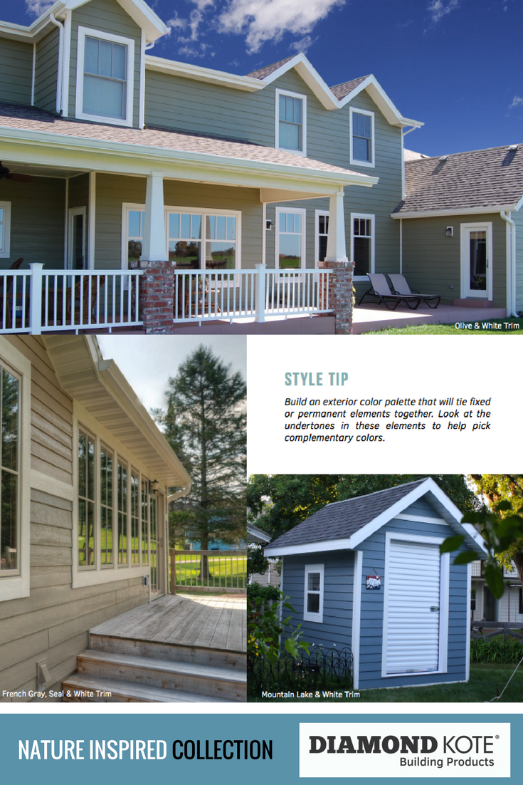 Choosing A Siding Color Is A Big Decision. Let Nature Inspire Your Siding  Color Combination! Our Home Exterior Styling Tips And Online Visualizer  Program ...