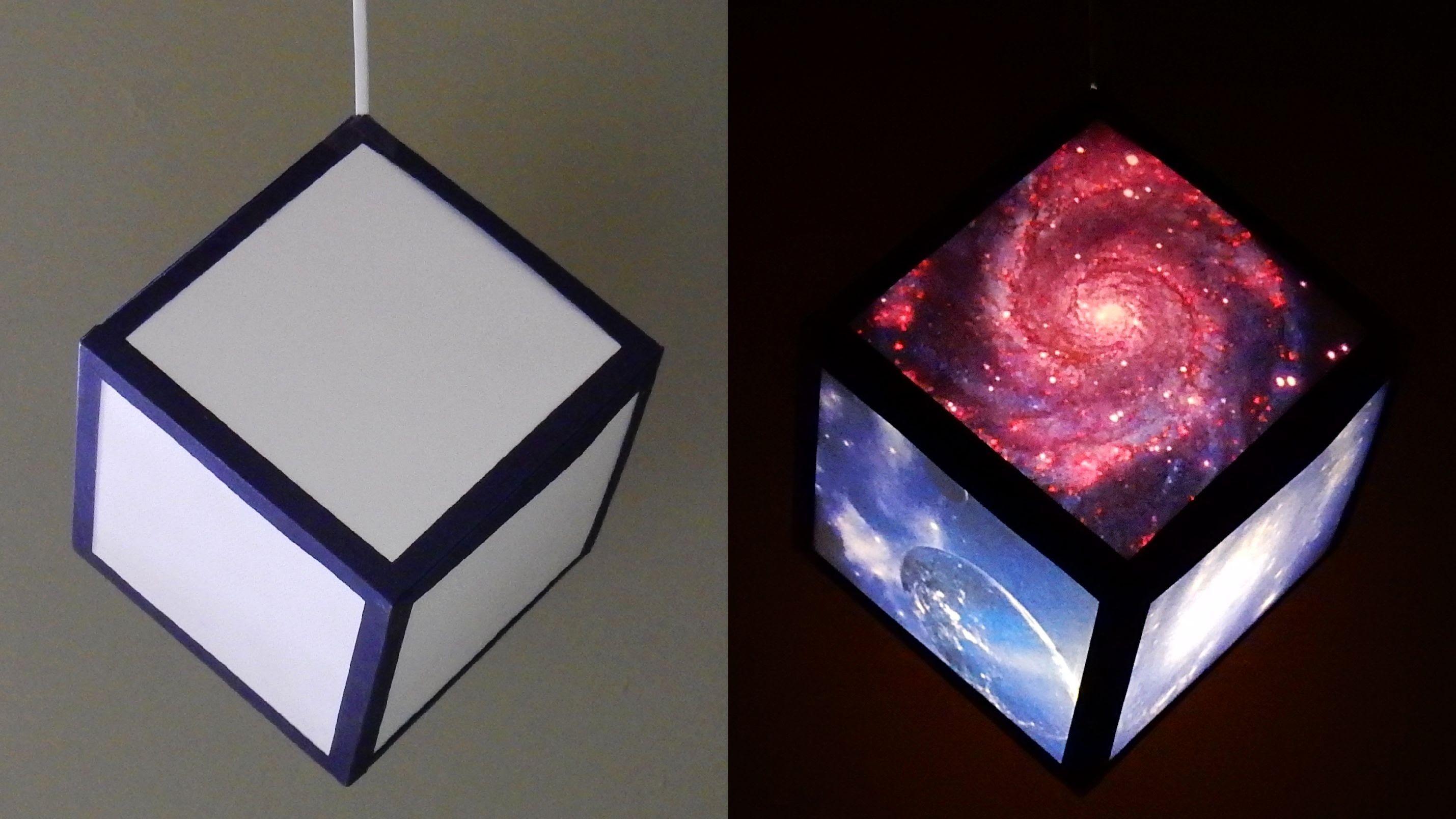 DIY pendant lamp/lantern (galaxy cube) home and room