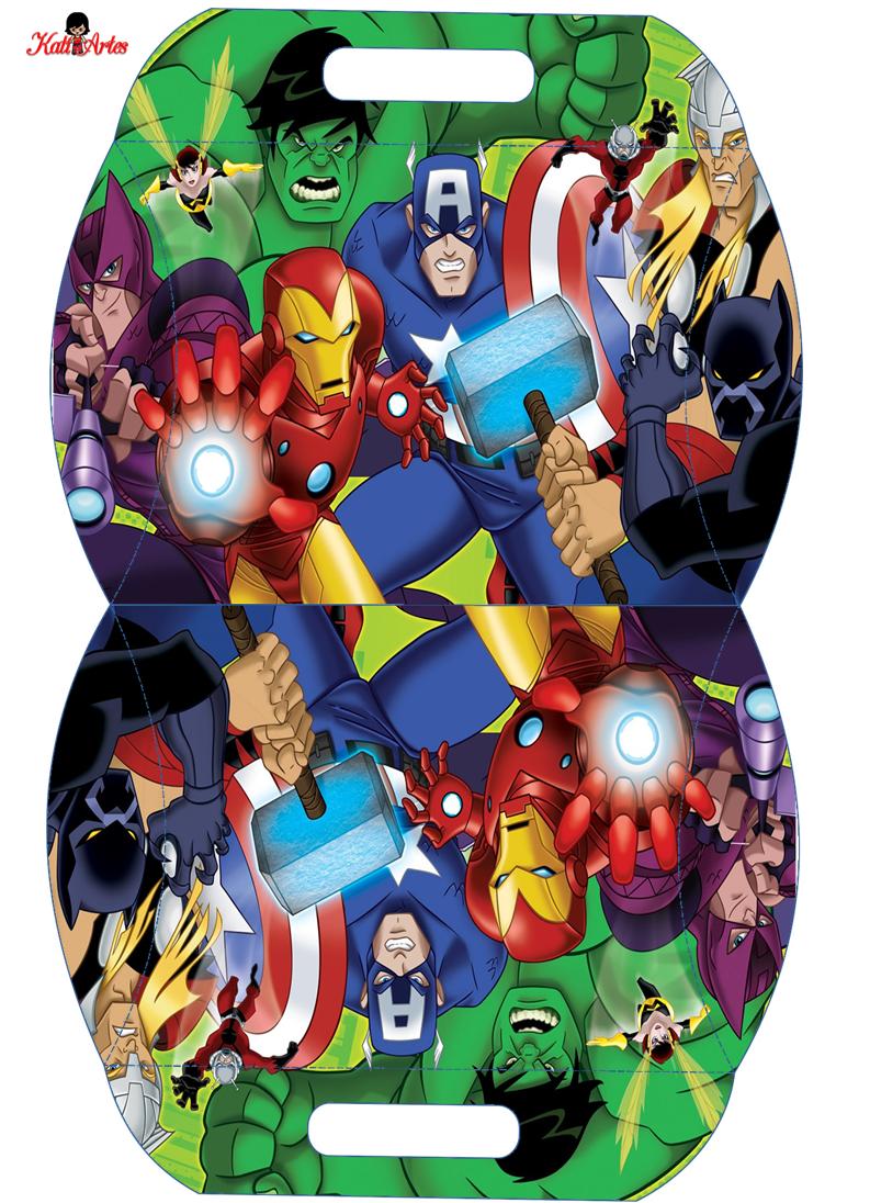 Los Vengadores: Caja Almohada para Imprimir Gratis. | Templates ...