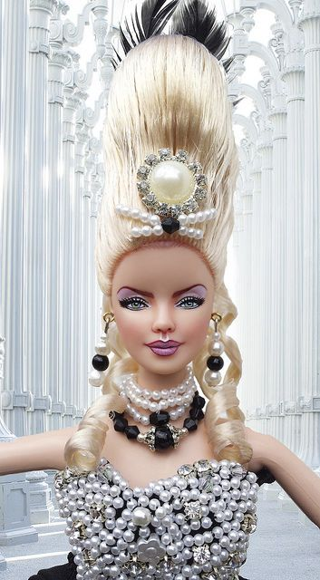barbie marie antoinette gothic ooak muse collector repaint doll by imperialis - Barbie Marie