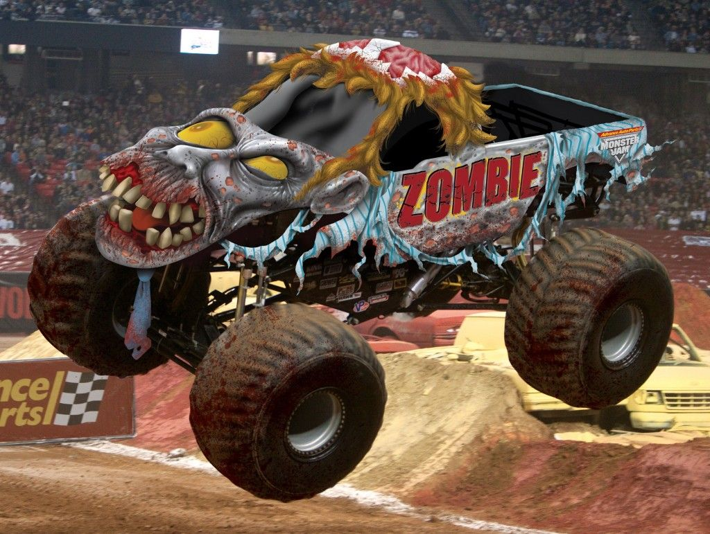Zombie Monster Truck With Images Monster Trucks Big Monster Trucks Monster Truck Jam