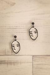 Papaikou Black Behind the Ear Pendant Earrings | La Petite Garçonne