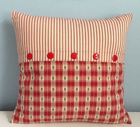 Country Christmas Pillow Country Cottage Pillow Cover