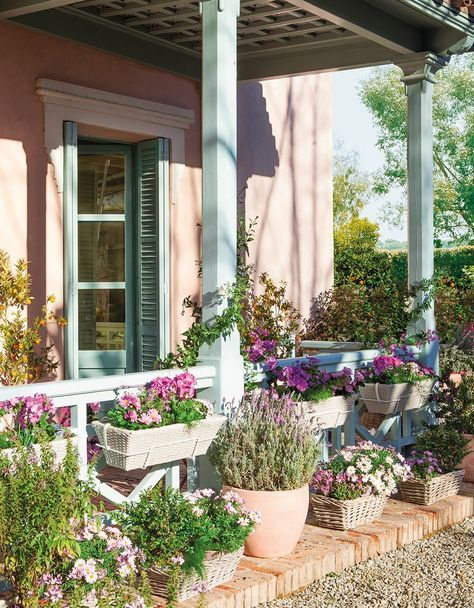La primavera se planta en tu balcón terraza Pinterest Balcones