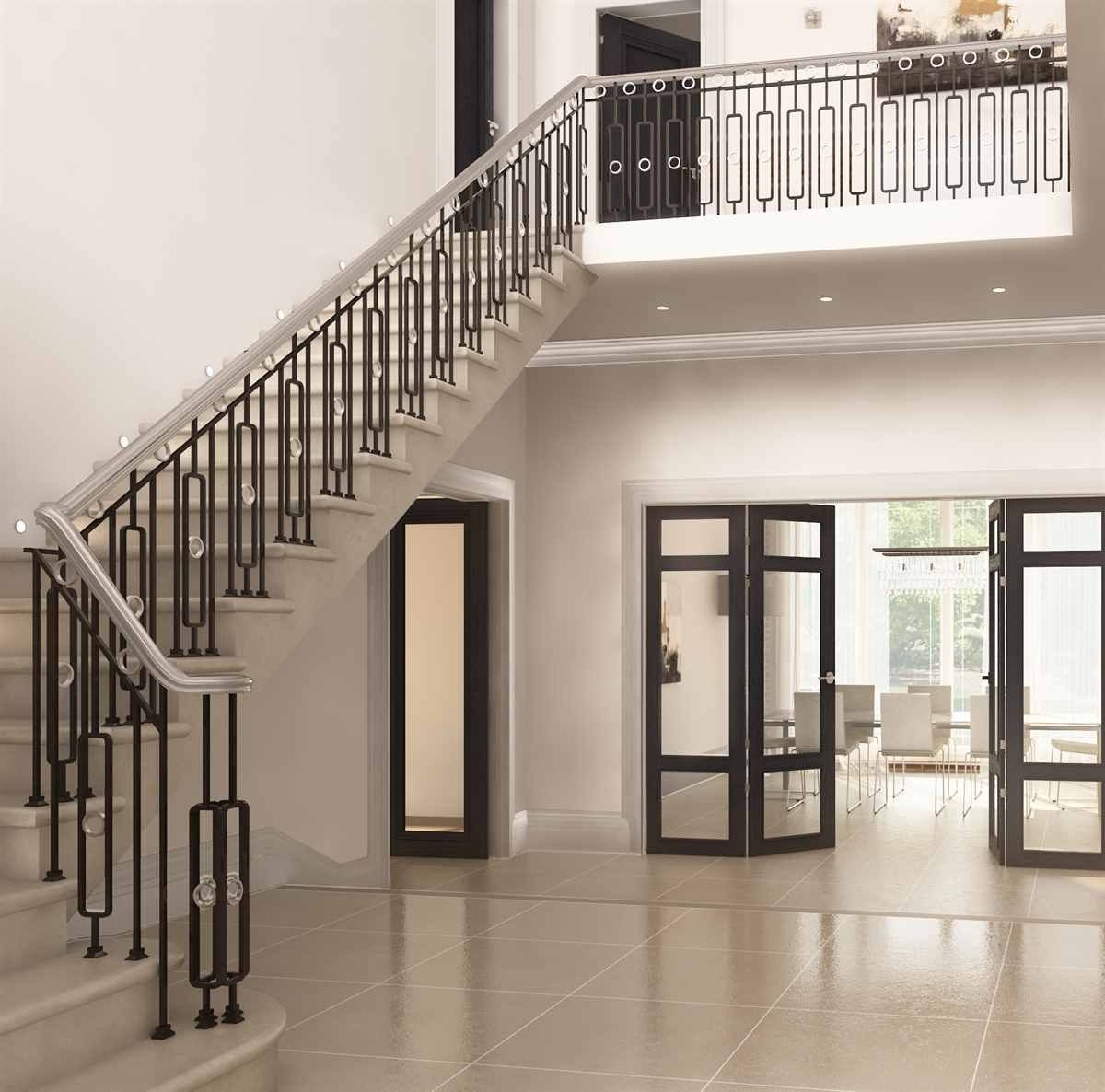 Best Fabricated Mild Steel Balustrade With Oak Handrail 400 x 300