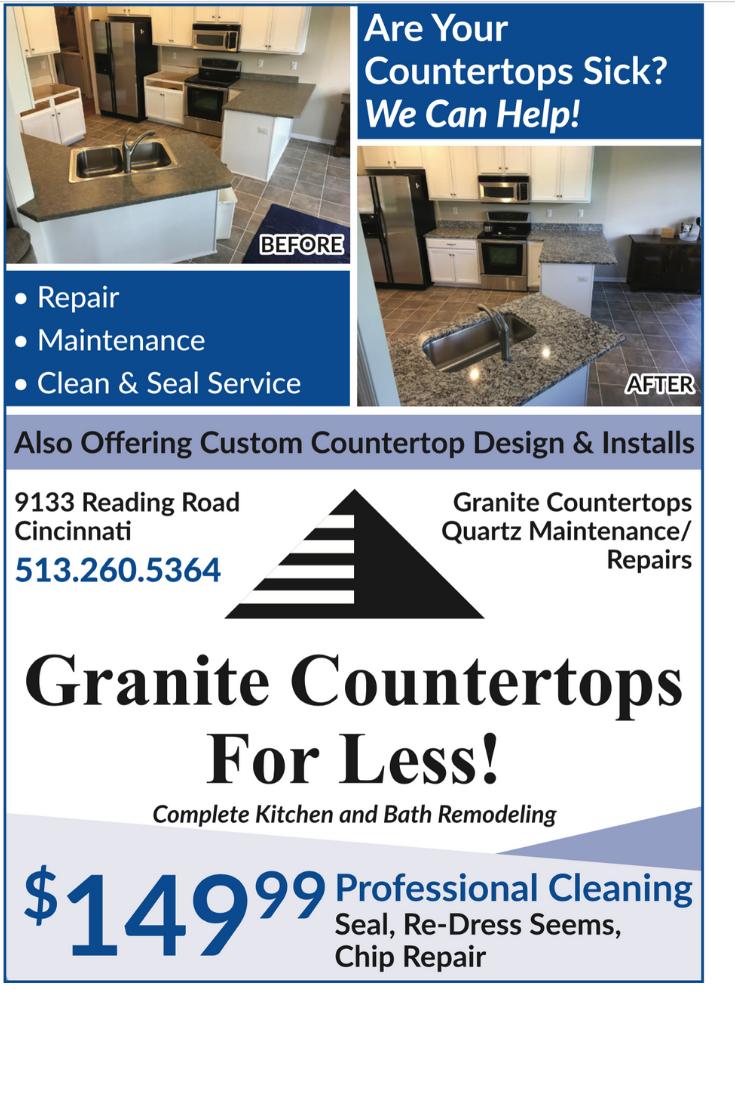 Kitchen Remodeling In Cincinnati Ohio Granite Countertop Repair Maintenance