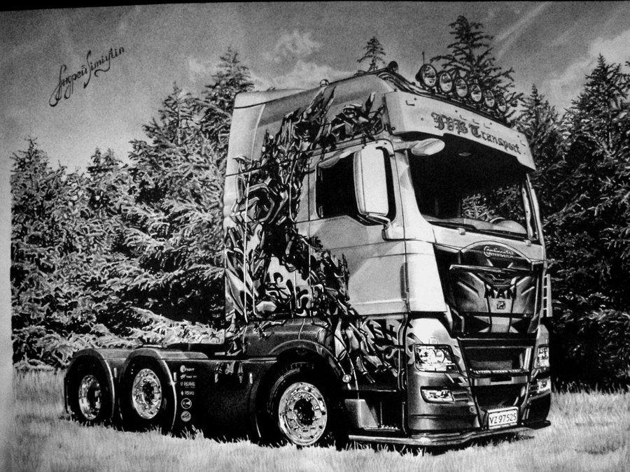 Фото грузовик рисунку популярной достопримечательностью