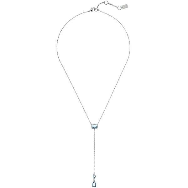 LAUREN Ralph Lauren Mad About Hue 20 Faceted Stone Y Necklace... ($48) ❤ liked on Polyvore featuring jewelry, necklaces, silver necklace, chain necklaces, chain pendants, blue silver necklace and silver chain necklace