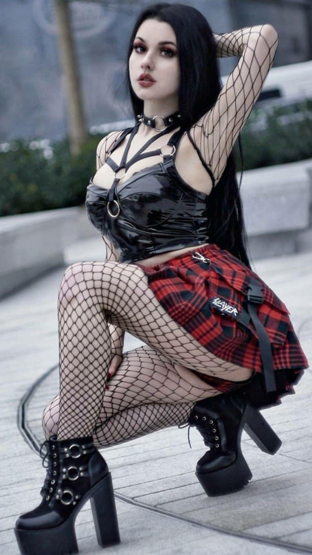 Girl hot goth 15 Best