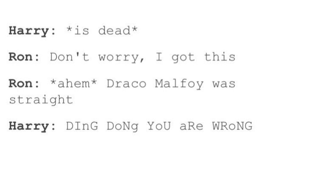 Ding Dong You Are Wrong Harry Potter Headcannons Harry Potter Feels Harry Potter Funny