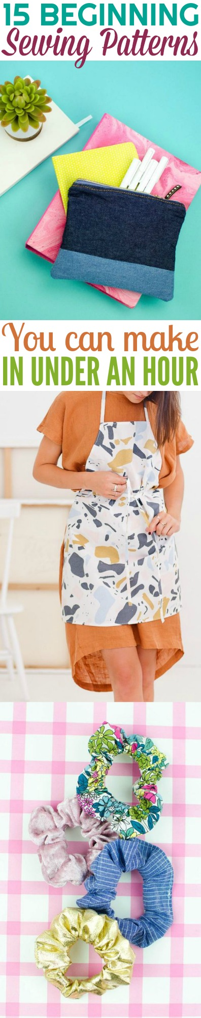 Beginning Sewing Patterns You Can Make in Under an Hour