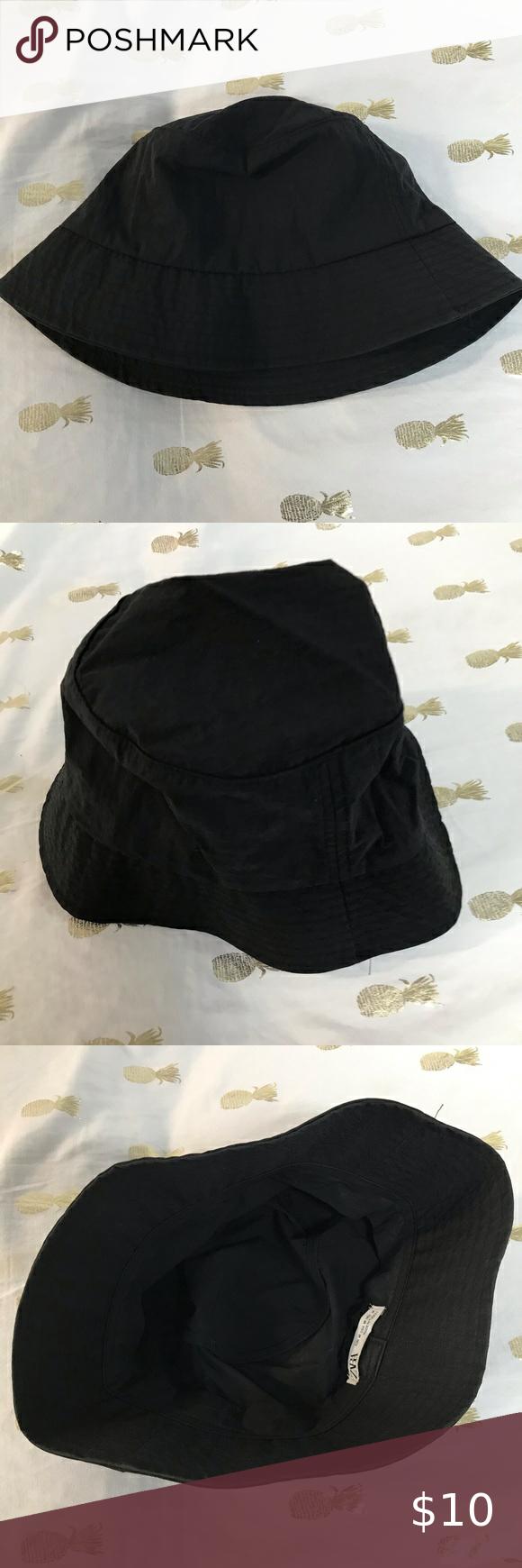 Bucket Hat Zara Hats Fitted Hats Black Fedora