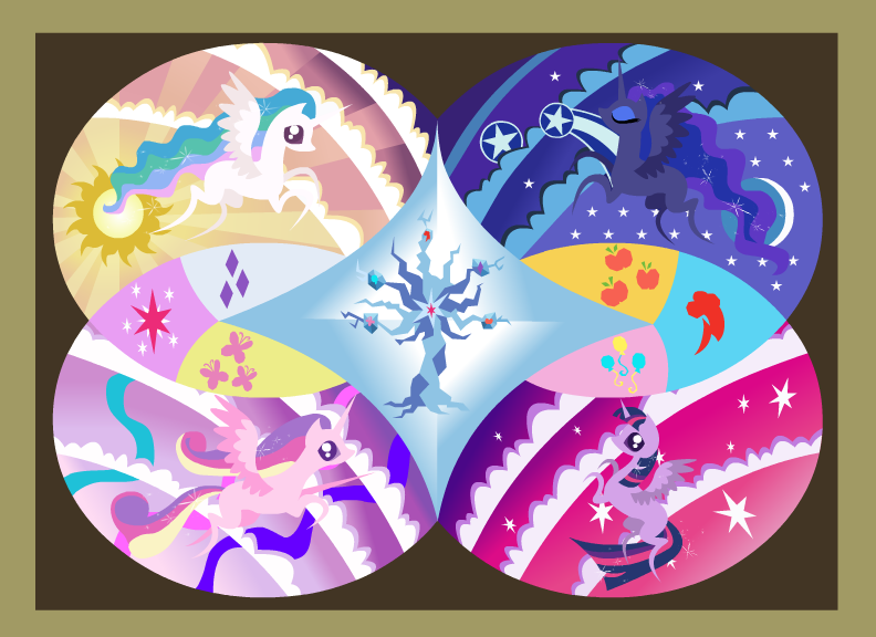 Mlp Four Princesses And The Tree Of Harmony My Little Pony Mlp