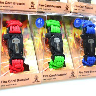 Bush Craft Inc 550 ファイアコードブレスレット (550 FireCord Bracelet) - サバイバルJP -キャンプ用品 | 防災グッズ- SURVIVAL JP