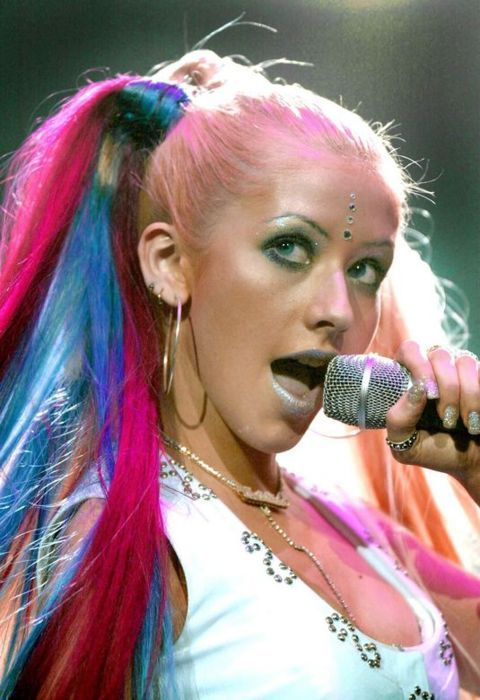 Ew This Is The Worst Look From The Late 90s Early 00s Pop Hair Christina Maria Aguilera Christina Aguilera
