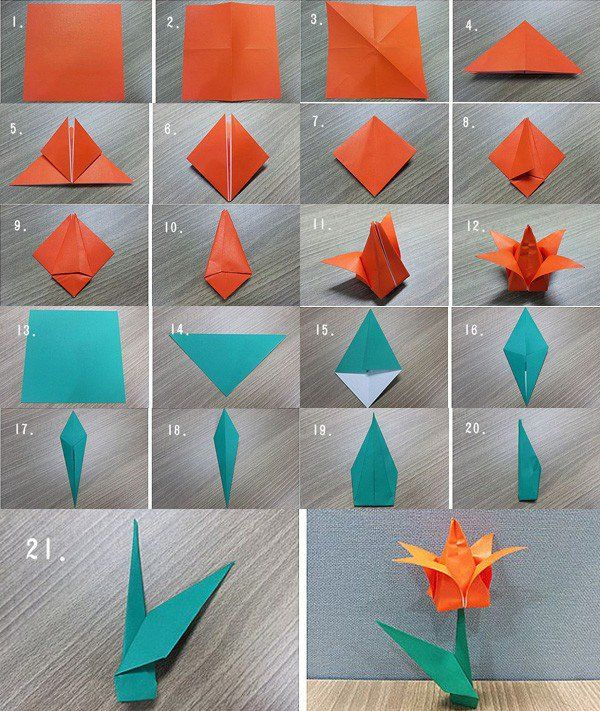 How to Make an Origami Lily Flower | Origami, Search and Origami ...
