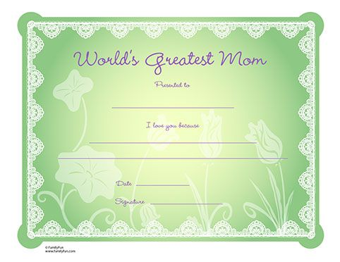 Printables Disney Family Mother S Day Activities Mothers Day Crafts For Kids Printable Certificates