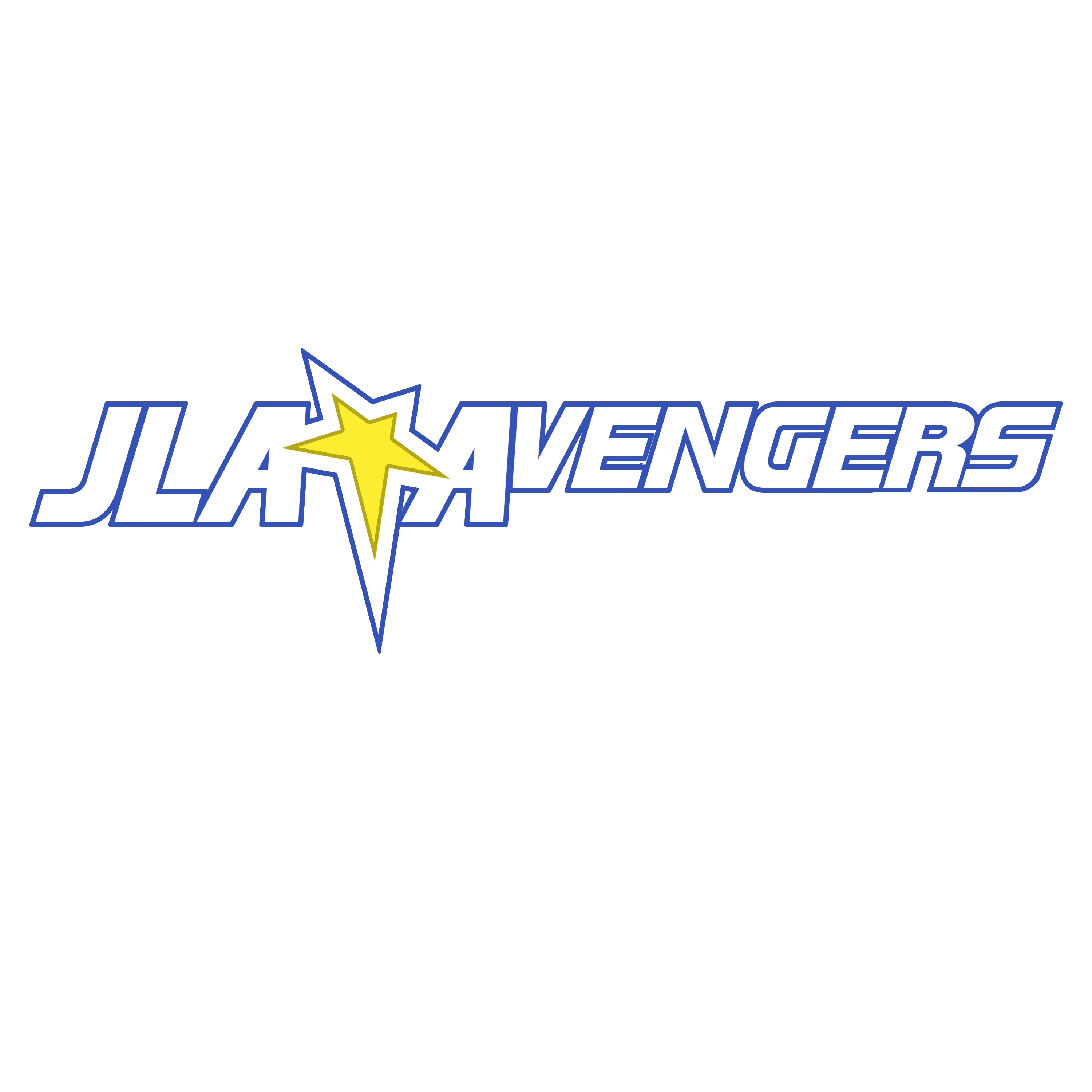 """JLA/Avengers"" 1 logo I recreated with"