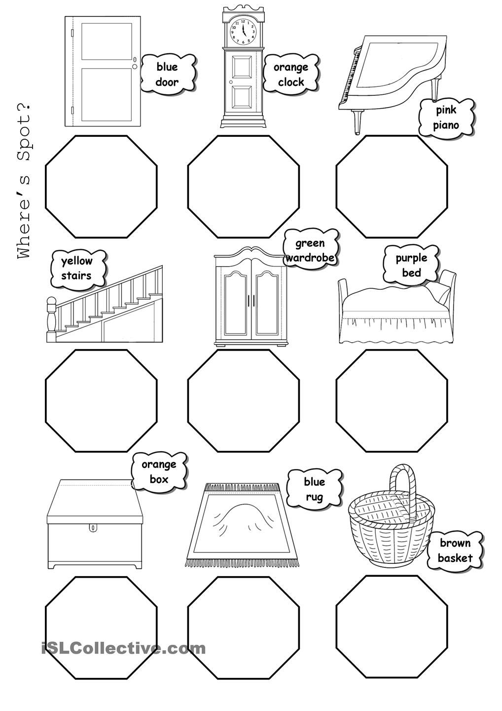 wheres spot coloring pages | Wheres Spot? | Spot books, Preposition activities ...
