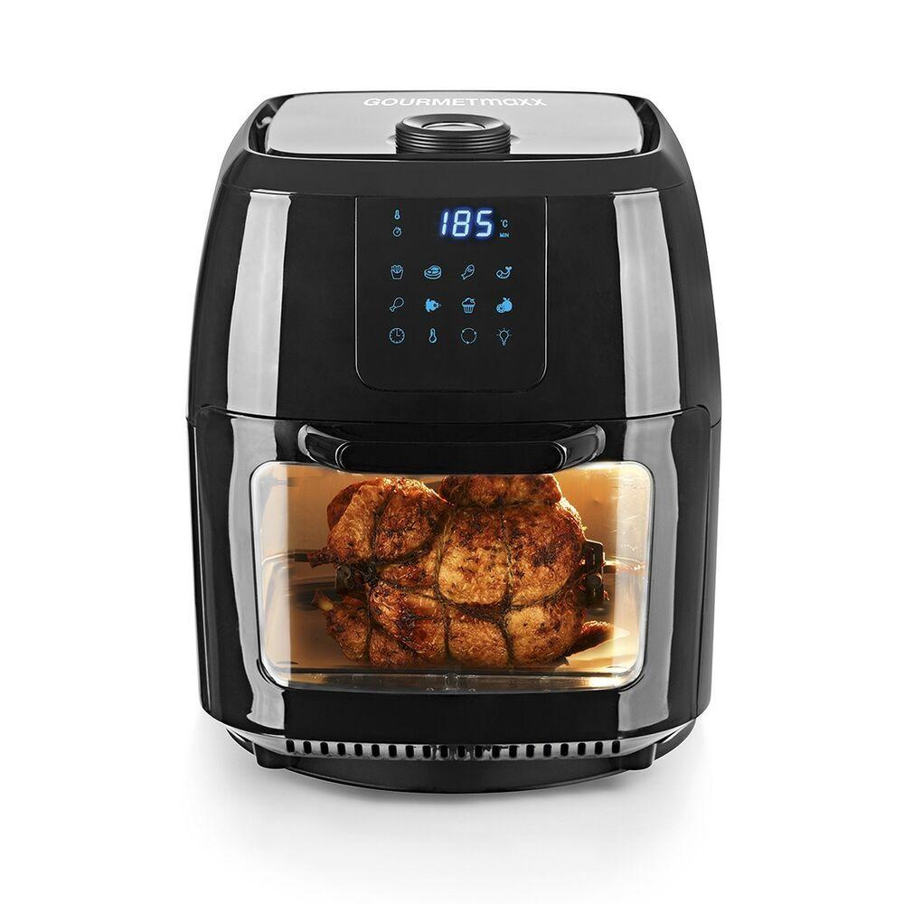 Gourmetmaxx Heissluft Fritteuse Ofen Drehgrill 1800w Touch Display Gourmetmaxx Frittieren Ohne Fett Gastronomie Kuche