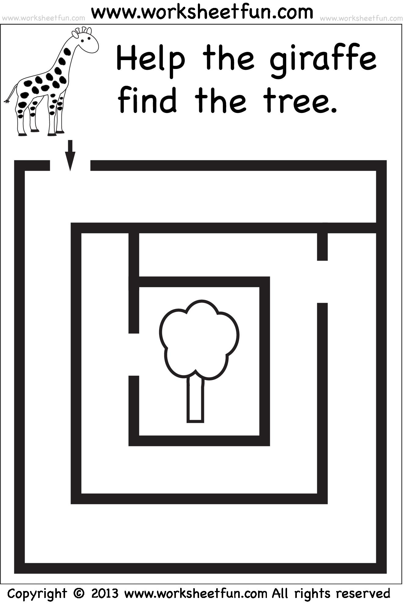 Laberinto jirafa | Maze | Pinterest | Laberintos, Jirafa y Preescolar