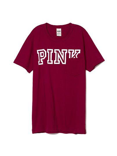 Campus Pocket Tee PINK | Victoria' Secret Pink Favorites ...