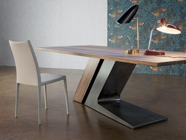 meuble salon design et table rectangulaire TL par Bonaldo Salon