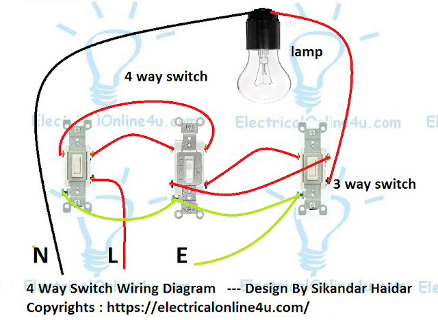 How To Wire a 4way Switch Wiring Diagram Elettricità