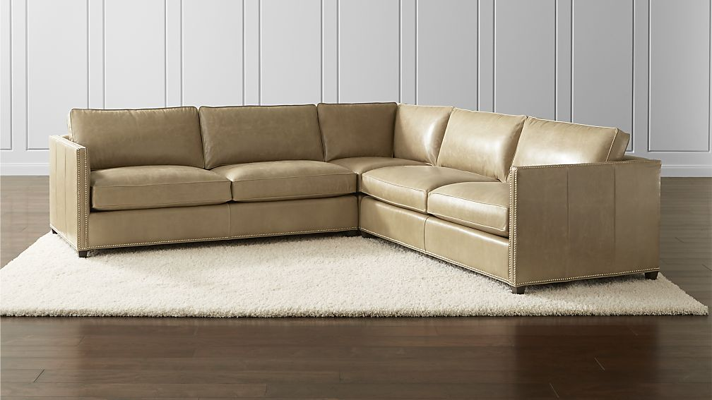 Barrett Leather 3 Piece Sectional Crate And Barrel Leather Sectional Sofas 3 Piece Sectional Leather Sectional