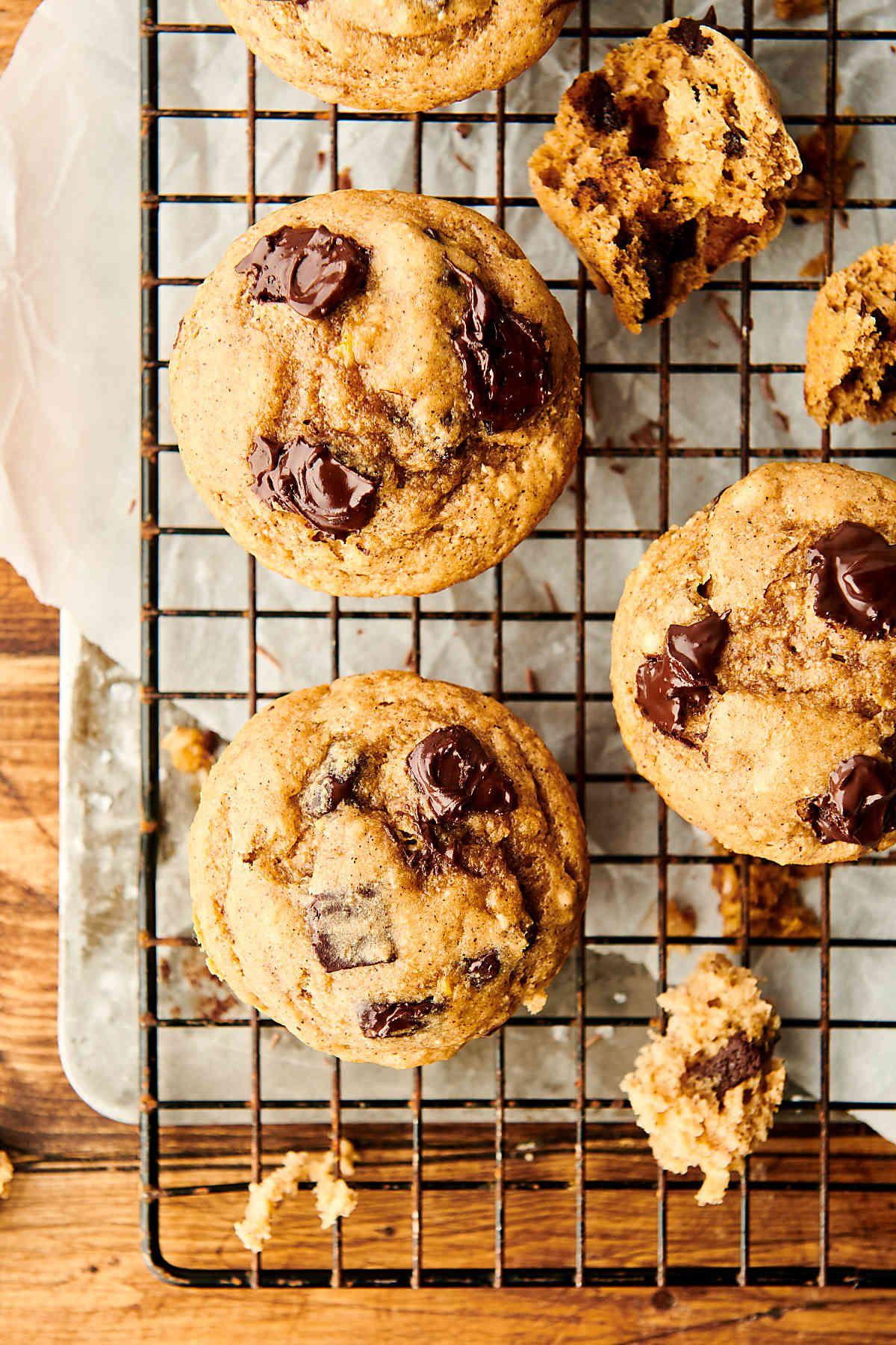 Healthy Banana Pancake Muffins Recipes W Chocolate Chips Recipe In 2020 Banana Pancakes Healthy Banana Healthy Banana Pancakes