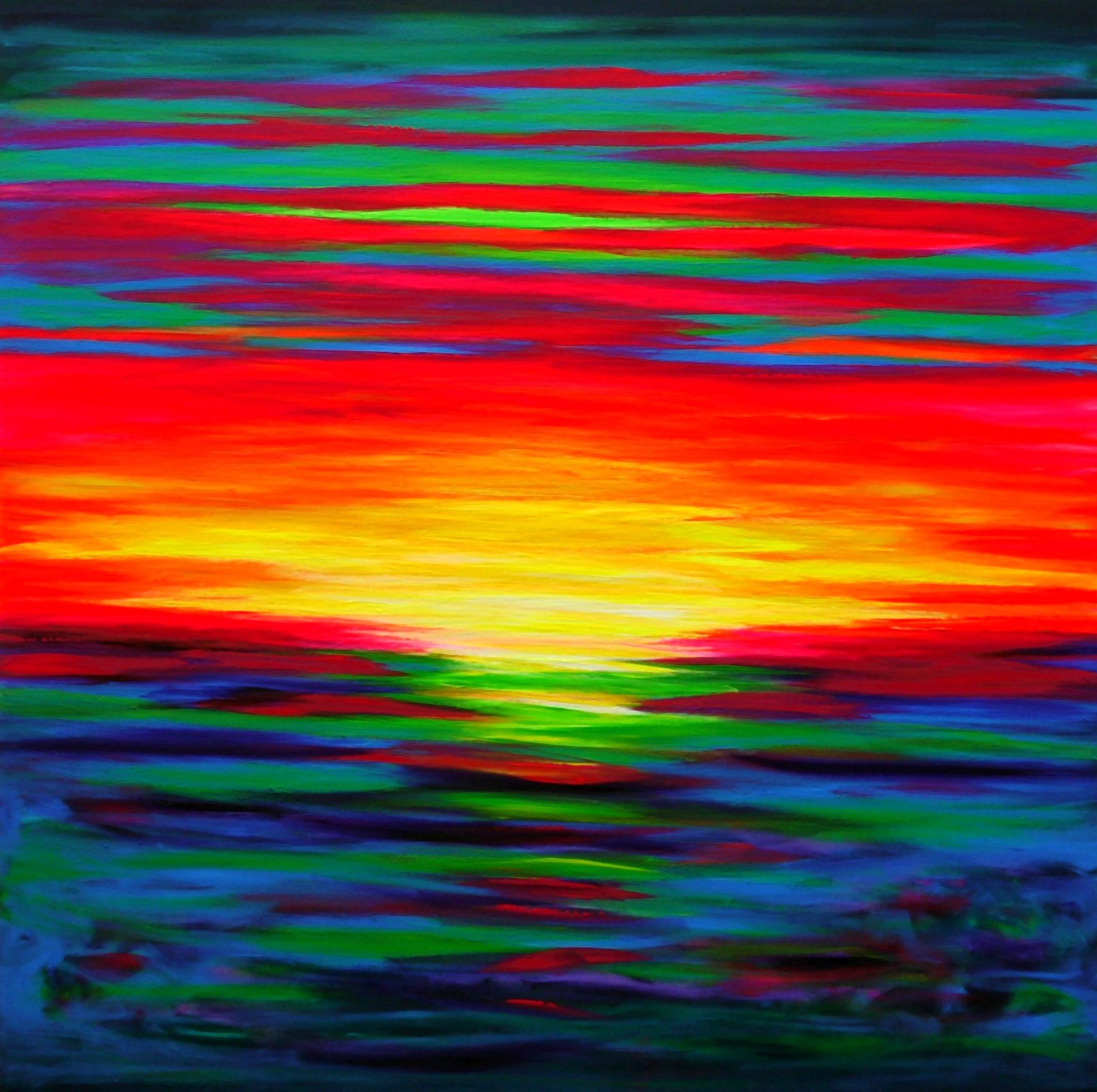 Sunburst Through the Sky, a new large psychedelic sunset ...