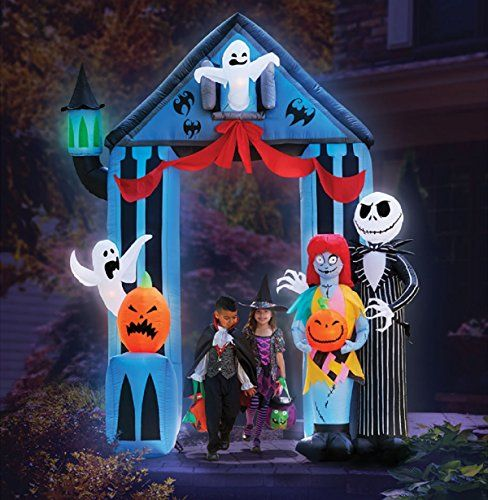 THIS STANDS 9\u0027 TALL X 65\u0027 WIDE LIGHTED FOR NIGHT TIME DISPLAY - disney christmas yard decorations