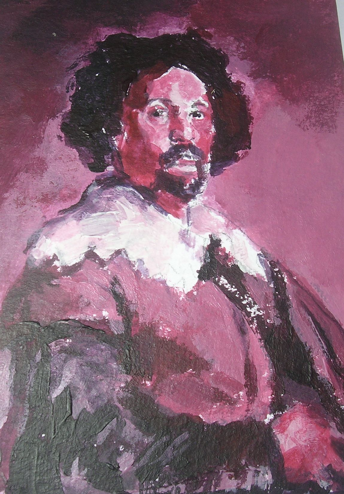 Velsaquez Study, Red and chromatic grey and zinc white