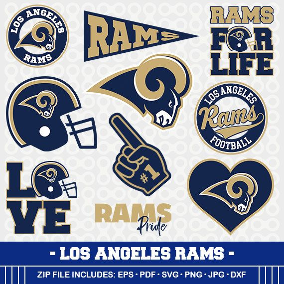 Los Angeles Rams Svg Files Football Clipart Svg Cameo Rams Football Cricut Files Football Svg Designs Screen Printing Svg 3 Ram Svg Svg Los Angeles Rams