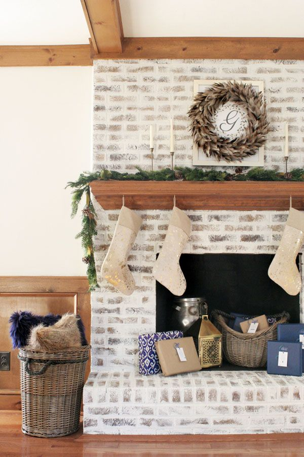 How to German Schmear Brick (Mortar Wash Fireplace Makeover) – Craftivity Designs