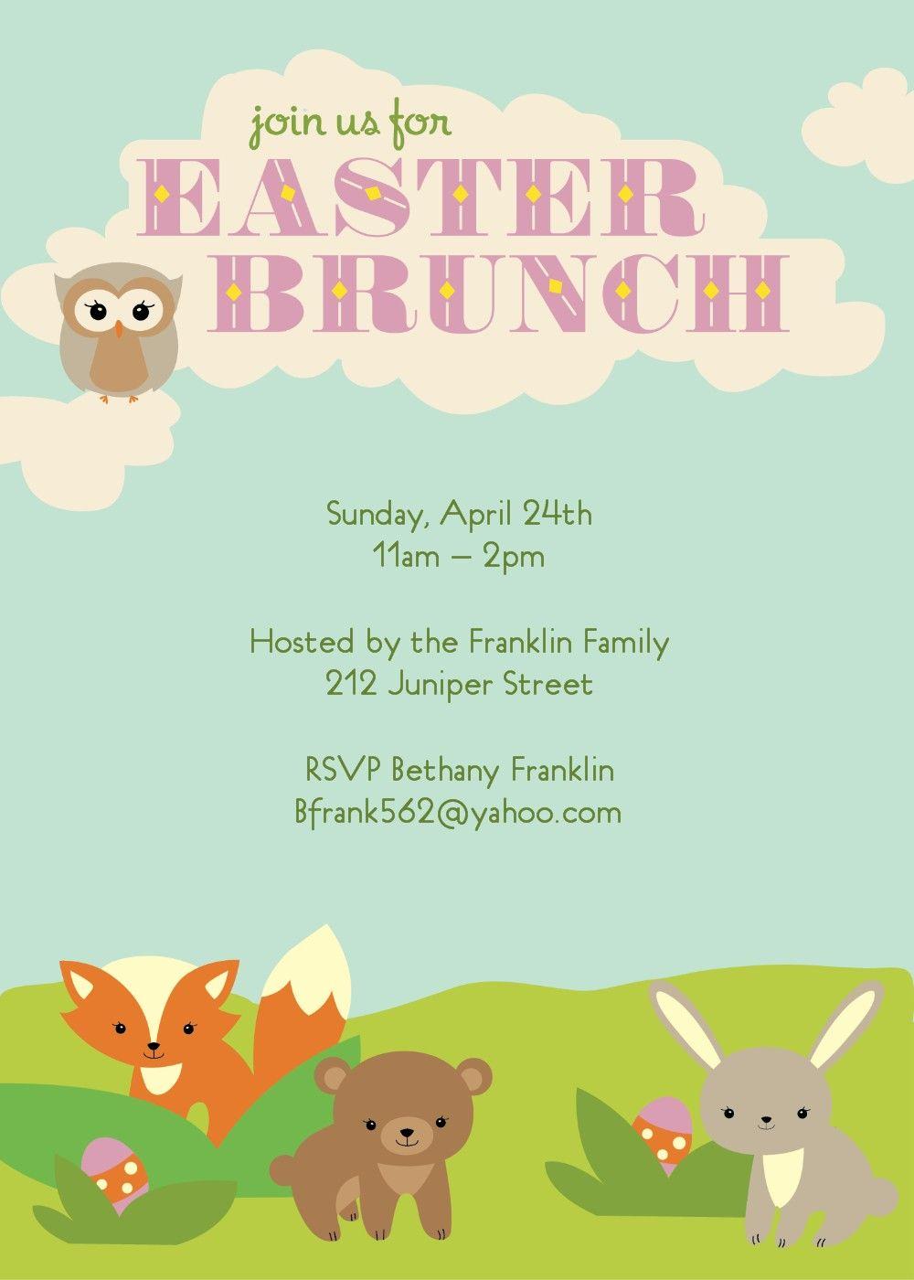 brunch invitation template free