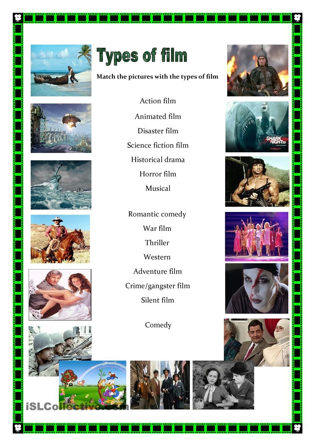 Types of films | DIY | Pinterest | Films, English and Worksheets