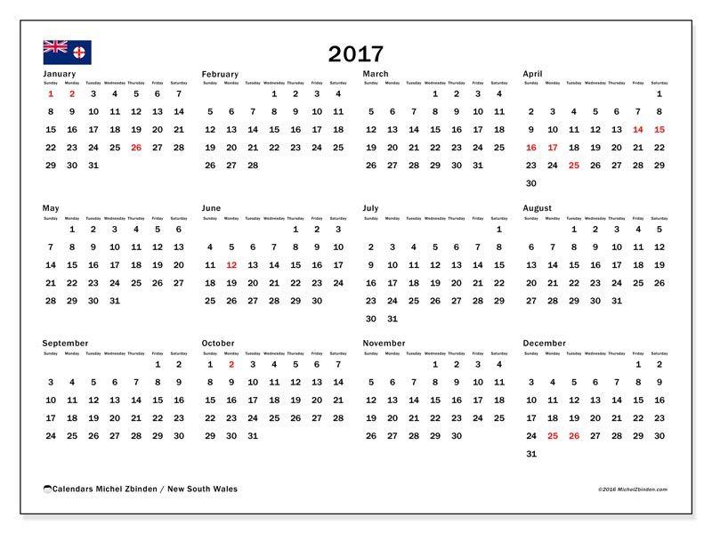 Free! Calendars for 2017 to print - Australia | kim | Pinterest ...