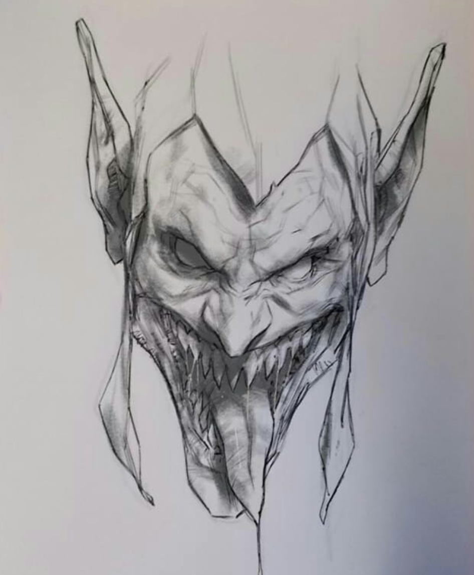 Картинки дьявола рисовать