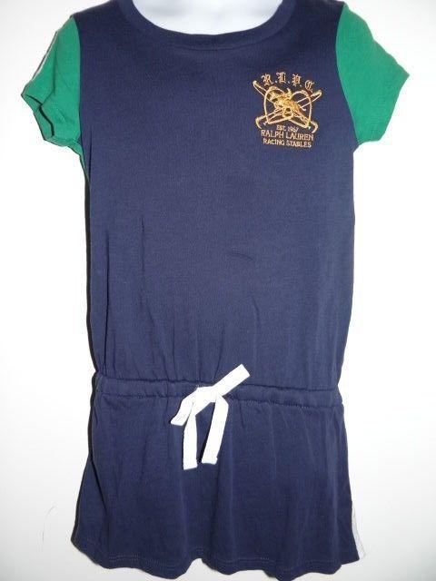 Ralph Lauren Girl's/Toddlers Blue/Green 100% Cotton Dress Size 2T & 3T #RalphLauren #Everyday