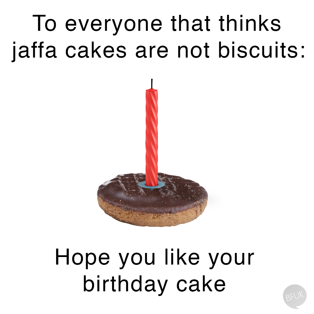 Our nation's long-running, passive aggressive argument about a biscuit. Sorry, a cake.